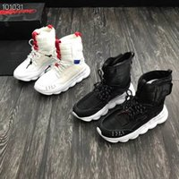 Wholesale mens style shoes high ankle online - Mens designer boots famous luxury brand mens sneakers genuine leather running shoes high quality boys comfortable basketball shoes new style