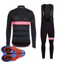jogo rapha jersey venda por atacado-Rapha equipe ciclismo de manga comprida jersey bermudas define bicicleta clothing quick-dry bicicleta sportwear ropa ciclismo 100809f