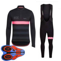 Wholesale pink bike shorts for sale - Group buy RAPHA team Cycling long Sleeves jersey bib shorts sets Bike Clothing Quick Dry Bicycle Sportwear Ropa Ciclismo F