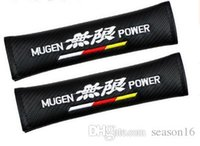 Wholesale Car Shoulder Pads Seat Belt Cover for Mugen Power Honda civic crv accord hrv Carbon Fiber Safety Belt Cover Car Styling