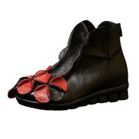 857c03bcd1739 Femmes Chaussures Cousues À La Main De Chaussures De Style Ethnique Martin  Bottes En Cuir Bottes Décontractées Dames nouveau