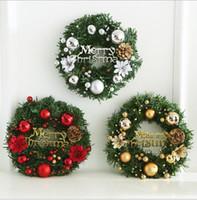 coronas de metal al por mayor-30 CM Guirnalda de Navidad Decoraciones de Navidad Hotel Centro comercial Accesorios de ventanas Decoración del centro comercial