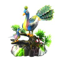 Wholesale Peacock Screen - Peacock Open Screen Music Light Simulation Call Electric Voice Control Peacock Induction Sound Control Toys Placed Concert Bird