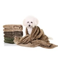 Wholesale Pet Flannels - Flannel Pet Towel Dog Bath Strong Absorbing Water Towels Blanket Quick Dry Towel Bathrobes For Puppy Cat Coffee Beige Green