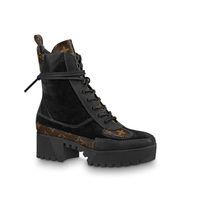 botas de vaquero negras al por mayor-Plataforma Laureate Desert Boot 1A41Qd 1A43Lp Negro Heart Boots Overcloud Platform Desert Boot Marca de lujo Martin Boots 0L0V023