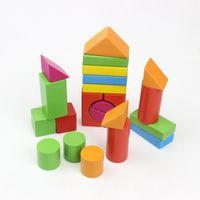 Wholesale intelligence blocks for sale - Group buy Blocks Wooden Grain Bricks Children Intelligence Puzzle Baby Assembling Large Wooden Educational Basic Stacking Toys