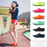 Wholesale kids diving toys for sale - Water Sports Scuba Diving Socks Colors Swimming Snorkeling Non slip Seaside Beach Shoes Breathable Surfing Socks Sand Play pair OOA5248