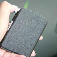 caixa de cigarro automática venda por atacado-Ejeção Automática Butano 10 Cigarros Caso Mais Leve À Prova de Vento de Metal Fosco Caixa De Armazenamento De Superfície 9.5x6.5x180 cm