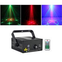 mini lazer sahne aydınlatma modelleri toptan satış-Mini 3Len 24 RG Desenler Lazer Projektör Sahne Ekipmanları Işık 3 W Mavi LED Karıştırma Etkisi DJ KTV Gösterisi Tatil Lazer Sahne Aydınlatma L24RG
