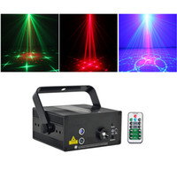 Wholesale professional laser show online - Mini Len RG Patterns Laser Projector Stage Equipment Light W Blue LED Mixing Effect DJ KTV Show Holiday Laser Stage Lighting L24RG