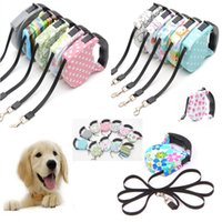 Wholesale led nylon pet dog collar online - Retractable Dog Leashes M Chain Lead For Pets Cat Puppy Automatic Dog Collars Walking Lead for Small And Medium Pet HH7