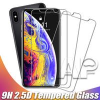 zte x al por mayor-Protector de pantalla de cristal templado para el nuevo Iphone XR XS MAX Plus X 8 Samsung Galaxy S9 LG ZTE V20 Sin paquete