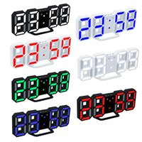 Wholesale alarm clock free shipping for sale - Group buy Modern Digital Wall Clocks LED Table Clock Colorful Watches or Hour Display Alarm Snooze Alarm Clock Home Room Decor