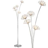 supports à cristaux liquides achat en gros de-Nouvelle lampe de sol en cristal moderne pour salon fleur décorative LED lampes en acier debout chambre classique lumière par designer Italie