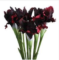 iris zuhause großhandel-Aytai 1 stück Künstliche Gefälschte Blumen Iris Günstige 6 Farben 68 cm Stoff Dekorative Blumen für Dekoration Event Party Supplies