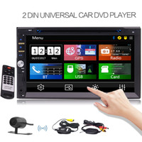 Wholesale gps lcd screen - Free Wireless Rear Camera Include! Car DVD Stereo Bluetooth Double Din 7'' Touch Screen LCD Radio for Car GPS Navigation Support DVD CD