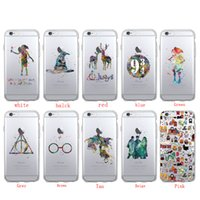 Wholesale Movies For Iphone - Harry Potter Watercolor Movie Soft Phone Case Cover Coque Fundas For iPhone 5 5S SE 6 6S 6Plus 7 7Plus 8 8Plus X SAMSUNG