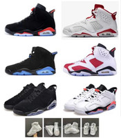обувь для мужчин белый мальчик оптовых-Большой мальчик обувь дети 7С классический 6 чистых денег баскетбольной обуви девушки Мужчины Женщины кроссовки все белые высокого верха спортивная обувь Майкл спортивных 36-47