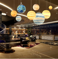 Wholesale moon light chandelier - Acrylic Resin Universe Planet Lighting Moon Restaurant Light Children's Room Hotel Cafe Star Celestial Body Chandeliers Pendant Lamps