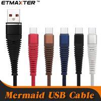 apfel usb c großhandel-Schnelle Ladekabel Meerjungfrau Geflochtene Nylon Usb Kabel 10FT 6FT 3FT TypeC Mikrokabel für IP X Xs Max Samsung