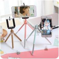 taşınabilir masaüstü standı toptan satış-Taşınabilir kamera cep telefonu tutucu Tripod teleskop tripod masaüstü fotoğrafçılık tripod iphone X 8 samsung s8 için küçük kamera braketi standı