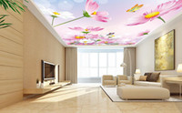 Wholesale free desktop sounds resale online - ceiling wall paper Vector beautiful pink Gesanghwa Zenith fresco desktop wallpaper free