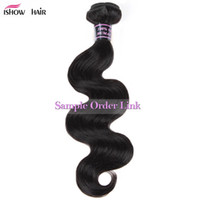 Wholesale body wave hair weaves for sale - Ishow Human Hair A Unprocessed Brazilian Hair Peruvian Malaysian Body Straight Loose Deep Water Curly Weaves Dyeable one Piece as Sample