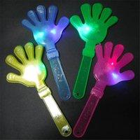 applaudissements en plastique achat en gros de-28cm LED luminescent main clap concert accessoires en plastique flash clap main mettre en œuvre fête de Noël