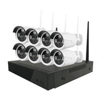 sistemas de video en red al por mayor-CWH 8CH 1080P Grabadora de video en red inalámbrica Sistema de seguridad de cámara IP al aire libre 2MP WiFi IR Resistente a la intemperie Cámaras CCTV NVR