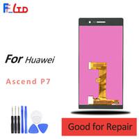 huawei p7 sayısallaştırıcı toptan satış-Huawei P7 için OEM LCD Ekran Dokunmatik Digitizer Ekran Değiştirme Toptan Fiyat 100% Test Ücretsiz Kargo