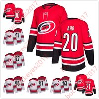 d417c4a04 Hot Sale Carolina Hurricanes 2018 New Brand 14 Justin Williams 19 Josh  Jooris 20 Sebastian Aho 21 Lee Stempniak Red White Hockey Jerseys