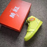 Wholesale Lemon Fabric - Authentic Air Retro 1 G8RD Gatorade HiGH OG BE LIKE MIKE Lemon Men's Basketball 1S Joint Limited Sports Shoes Sneakers With Original Box