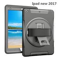 Wholesale Ipad Mini Hand - for 2017 new iPad pro 10.5 9.7 ipad air 2 mini 4 Kickstand 360 Degree Rotable Tote Hand Strap Shockproof Case