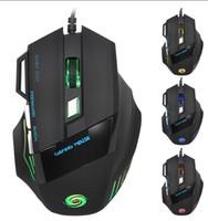 usb ışık gösterisi toptan satış-Sıcak Satış Bir fare tüm renkleri gösterir 2400 DPI 4D düğmeler led arka ışık fare kablolu oyun faresi USB kablolu oyun fareler dizüstü masaüstü için