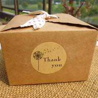 Wholesale circular wall lights for sale - Group buy Circular Thank You Dandelion Seal Sticker Baking Packing Biscuit Bag Thanks Stickers Label Paster Home Decor jx ff