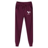 Wholesale Thick Fleece Pants Men 3xl - Cotton Homme Plus Size M-5XL Mens Sweat Pants Fashion Eagle Printed Thick Fleece Casual Jogger Pants Long Trousers