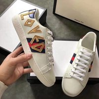 Wholesale Top High Cut Shoe Brands - wholesale 2018 new fashion luxry brand men women white sneakers leather cut-top hot casual shoes high quality flats DHL shipping with box