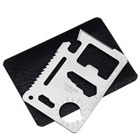 11 карт инструментов оптовых-11 в 1 выживания карты многофункциональный нержавеющей стали кемпинг открывалки карманные военные кредитные карты легко носить EDC инструменты 0 62mh BB