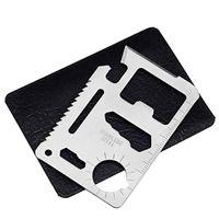 herramienta de tarjeta multi bolsillo al por mayor-11 en 1 tarjeta de supervivencia multifunción de acero inoxidable abridores de camping bolsillo militar tarjetas de crédito fácil de llevar herramientas EDC 0 62mh BB
