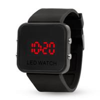 ingrosso orologi digitali del braccialetto principale dello schermo di tocco-Lo sport di Digitahi del LED Digital dello schermo di tocco del silicone guarda gli orologi di gomma dello specchio dell'orologio del braccialetto di colore di Candy per le donne