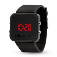kadın şeker saatleri toptan satış-Silikon Dokunmatik Ekran Dijital İzle Erkek Spor LED Saatler Şeker Renk Elektronik Bilezik Kadınlar Için İzle ayna Kauçuk Saatler