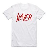 Wholesale rock t shirts xxl - Été De Mode Hommes Vitesse D'impression En Métal Slayer T-shirt Rock N Roll O Cou À Manches Courtes Camisetas Rock Band Casual T-shirt