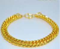Wholesale a2 stainless steel for sale - Group buy Gold Plated Stainless Steel Bracelets skills he Cuban Chain Men s Jewellery Fashion mm long mm wide A2