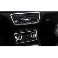 Wholesale console audi - Middle Console CD Panel Cover Trim For Audi Q3 13-15 Car Accessories Stainless Steel Air Conditioner Knob Frame Strips
