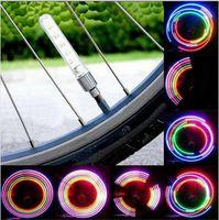 Wholesale Mtb Light Wheel - New Bike Light Tyre Tire Valve Caps Lights MTB Spokes 32 color 5 LED Wheel Cycling Mountain Road Bicycle Flash Light