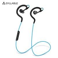 Wholesale syllable bluetooth headset - SYLLABLE D700-2017 in Ear Bluetooth 4.0 Headset Neckband Jogging Running Sports earphone earbud Sweat Proof Wireless Earphone