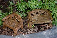 ingrosso vasi da giardino della resina-Mini tavolo sedia resina artigianato micro paesaggio in vaso design sabbia tavolo puntelli giardinaggio piccoli ornamenti