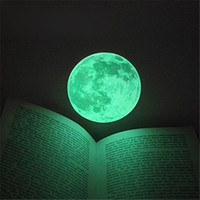 Wholesale Moon Sticker Glow Wall - Hot 30cm Large Moon Glow In The Dark Luminous DIY Wall Sticker Living Home Decor Romantic Moon Fluorescent Paste