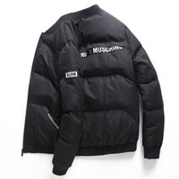 veste de col en hiver pour hommes achat en gros de-2018 nouveau style veste d'hiver hommes casual toboggan Sportswear F manteau à col montant rembourré épaisses Parkas