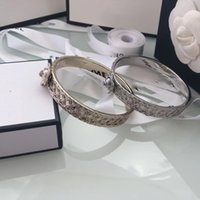 Wholesale ladies wristbands - luxury women's female's ladies punk DJ exaggerated big logo wristband bangles cuffs bracelets free shipping 2colors